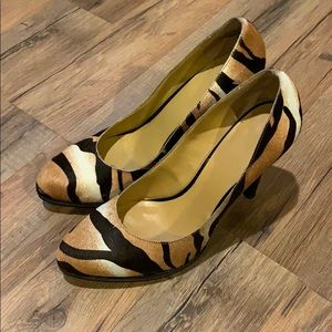 Nine West zebra print shoes